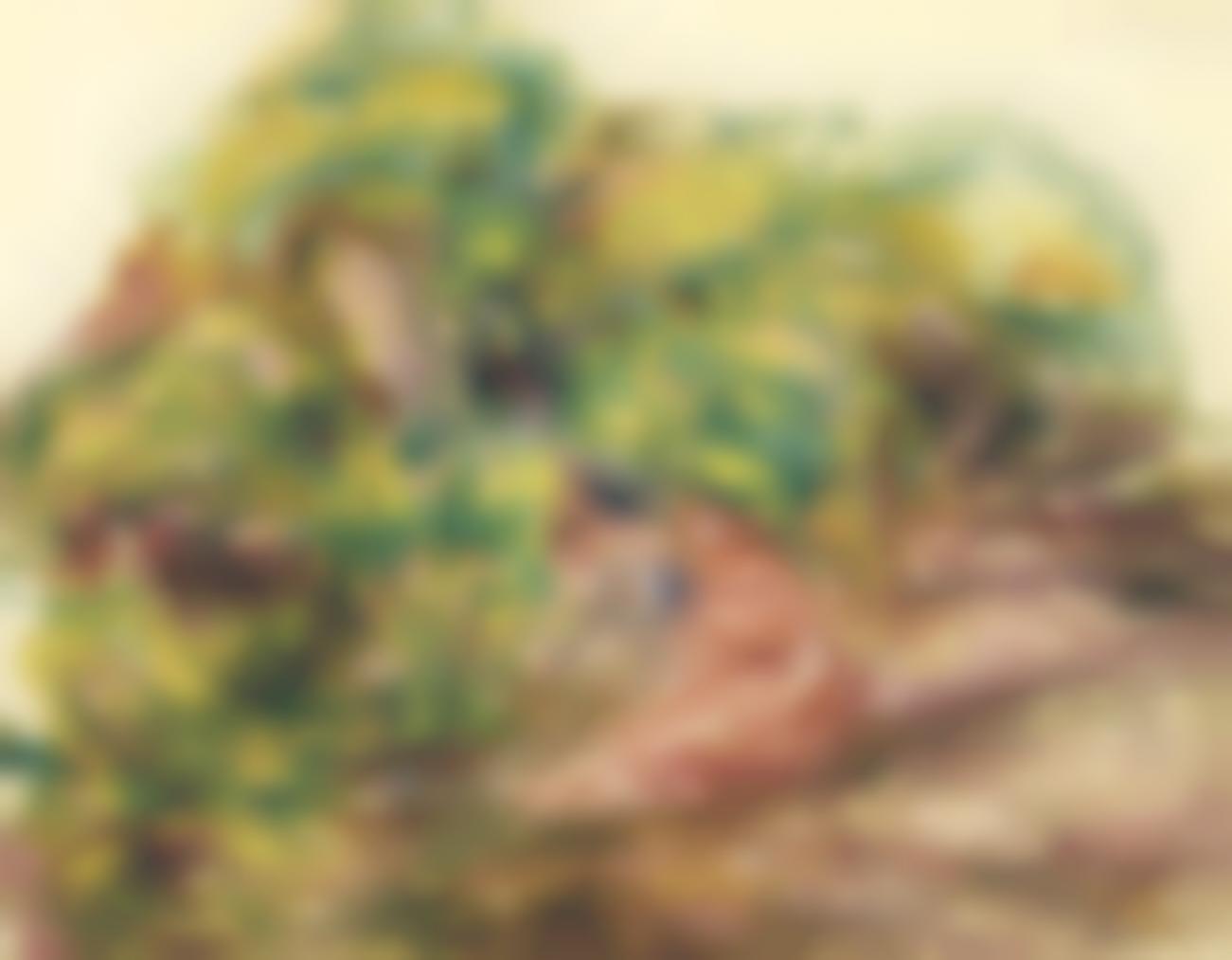 Pierre-Auguste Renoir-Esquisse De Paysage (Deux Femmes Dans Le Jardin Des Collettes A Cagnes)-1919