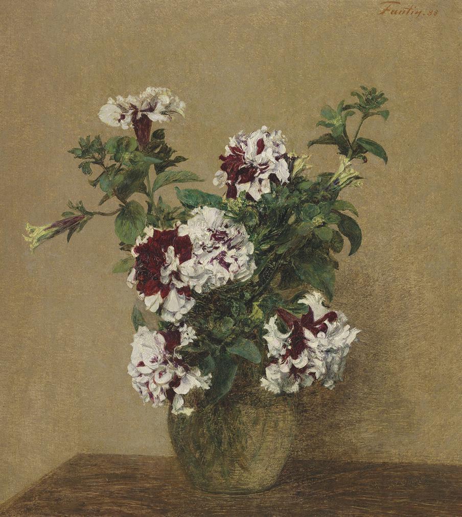 Henri Fantin-Latour-Petunias Doubles-1888