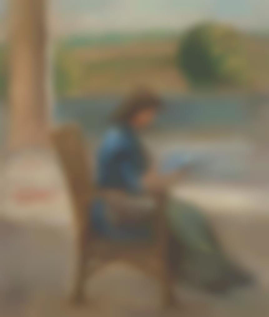 Pierre-Auguste Renoir-Jeune Fille Assise Dans Une Veranda-1900