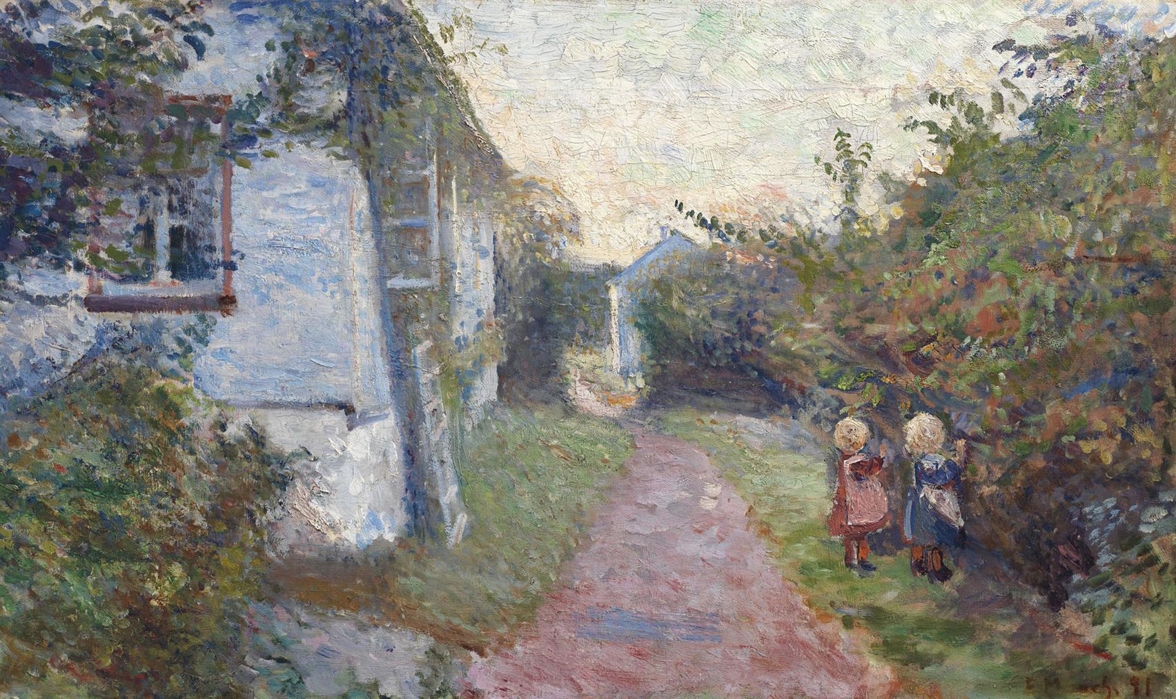 Edvard Munch-Sommeraften I Asgardstrand-1891