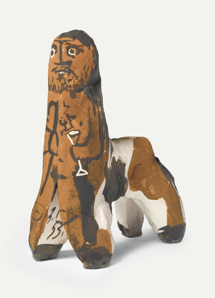 Pablo Picasso-Centaure Au Verre-1953