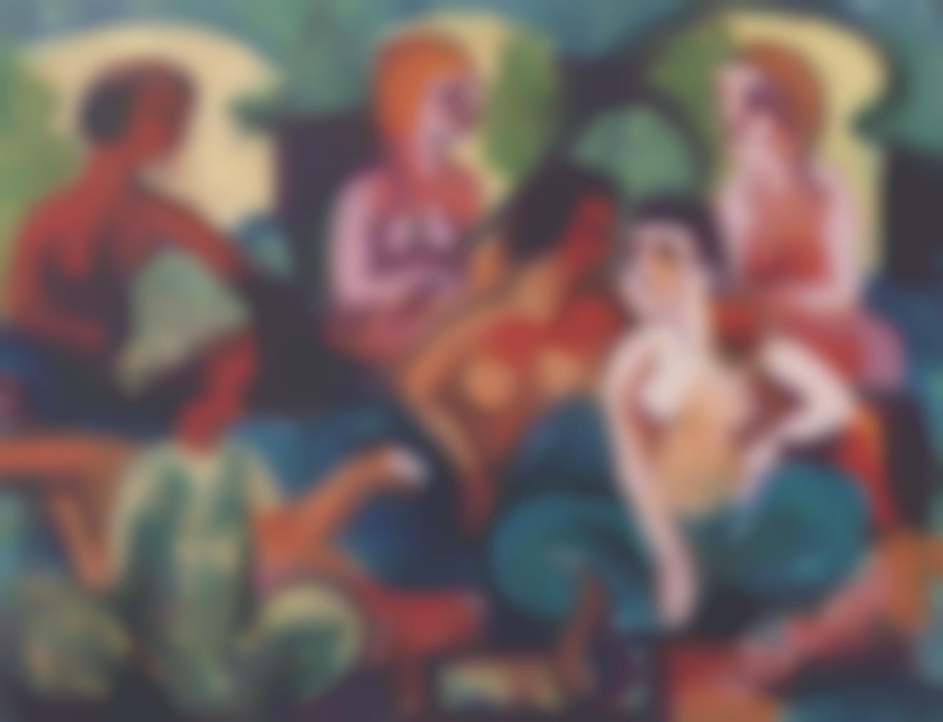Ernst Ludwig Kirchner-Im Palast Der Prinzessinnen-1922