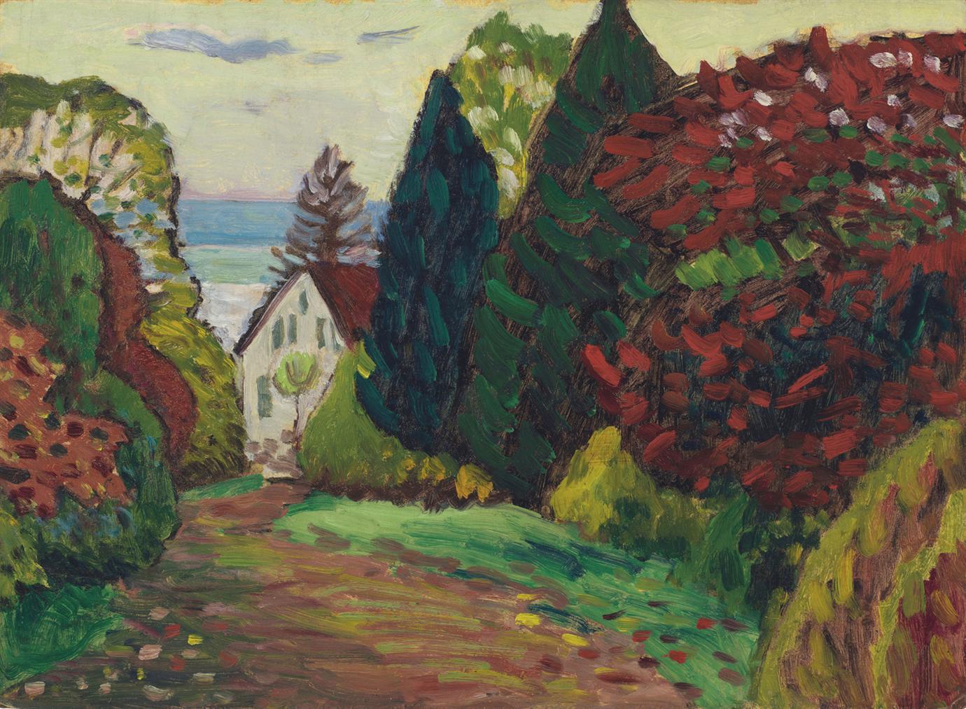 Gabriele Munter-Mariaholde Zum Unteren Thor-1914