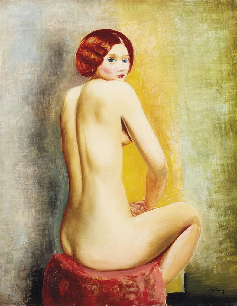 Moise Kisling-Petit Nu Assis De Dos-1920