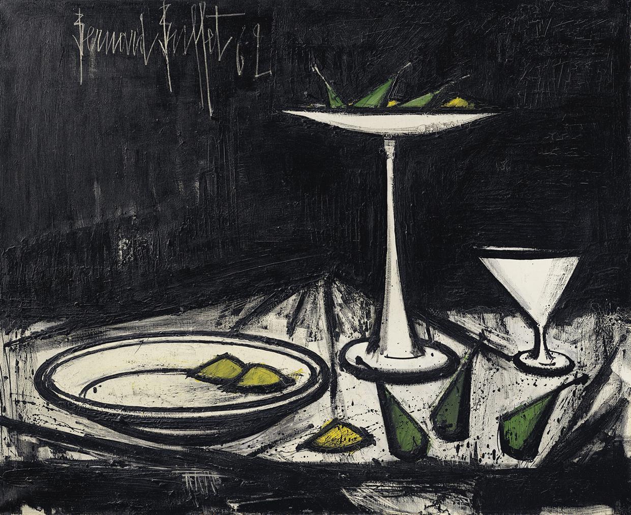 Bernard Buffet-Nature Morte Au Compotier-1962