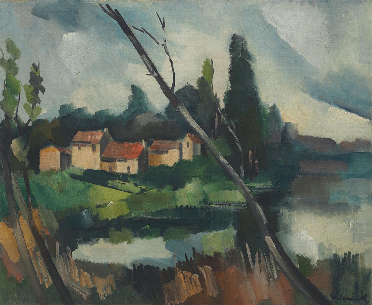 Maurice de Vlaminck-Le Jeune Arbre En Biais-1912