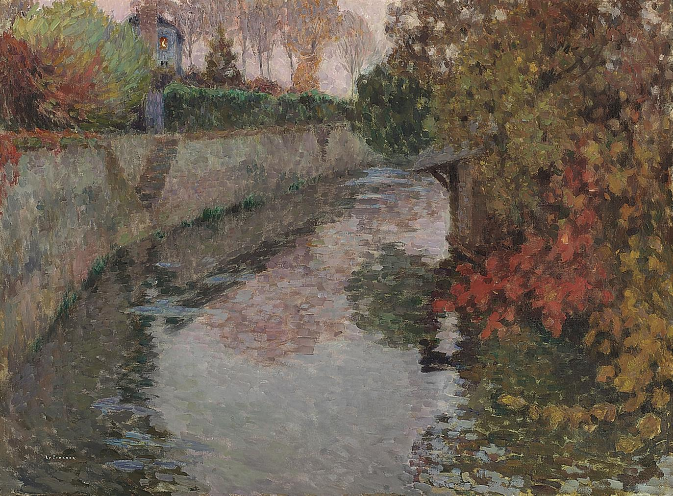 Henri Eugene Le Sidaner-Le Lavoir, Gisors-1904