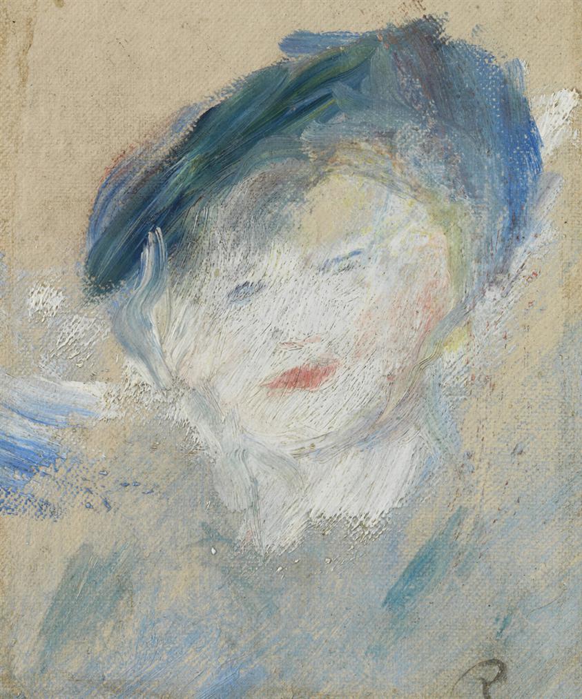 Pierre-Auguste Renoir-Femme Au Chapeau Bleu-1876