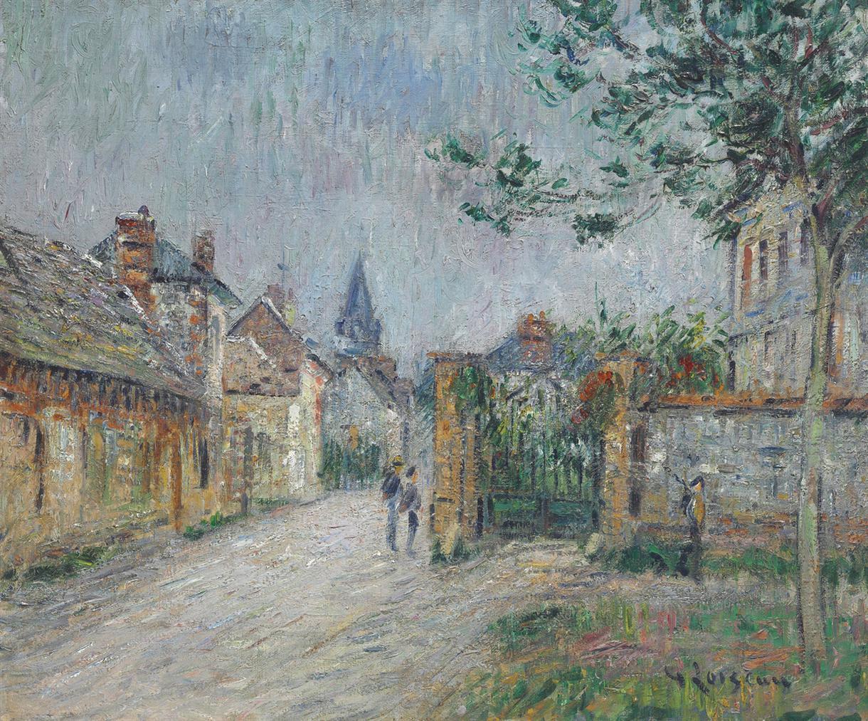 Gustave Loiseau-La Rue De Village, Saint-Cyr-Du-Vaudreuil-1923