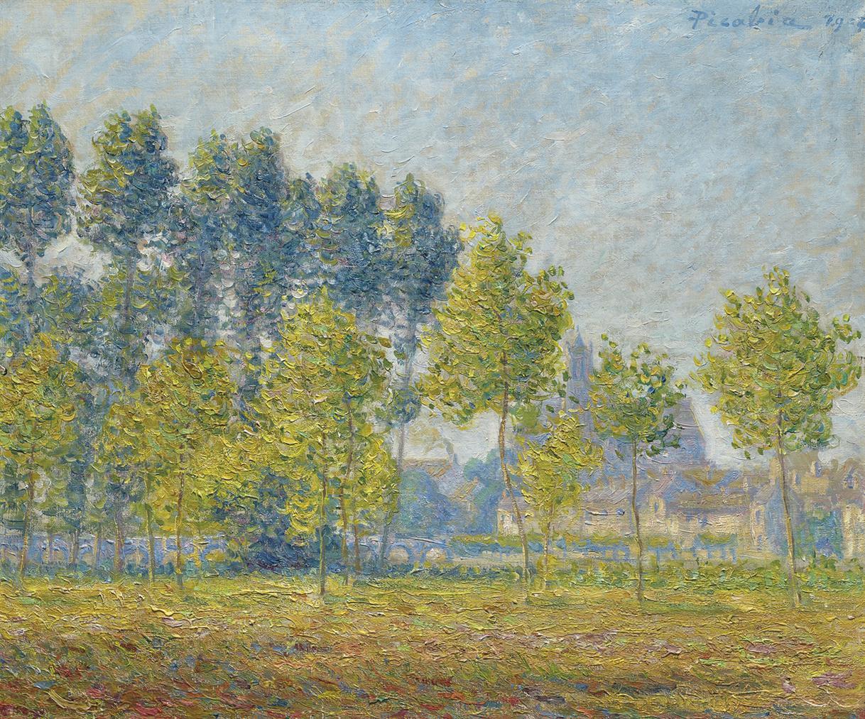 Francis Picabia-Les Peupliers, Moret-1904