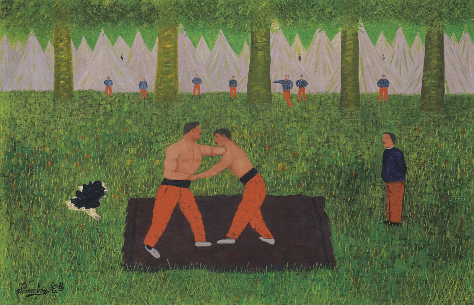 Camille Bombois-Lutteurs Au Camp-1926