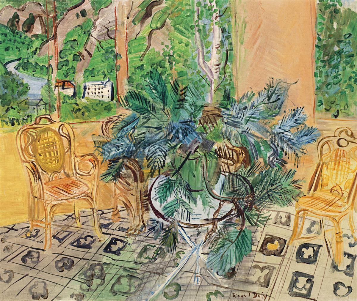 Raoul Dufy-La Terrasse A Vernet-Les-Bains-1943