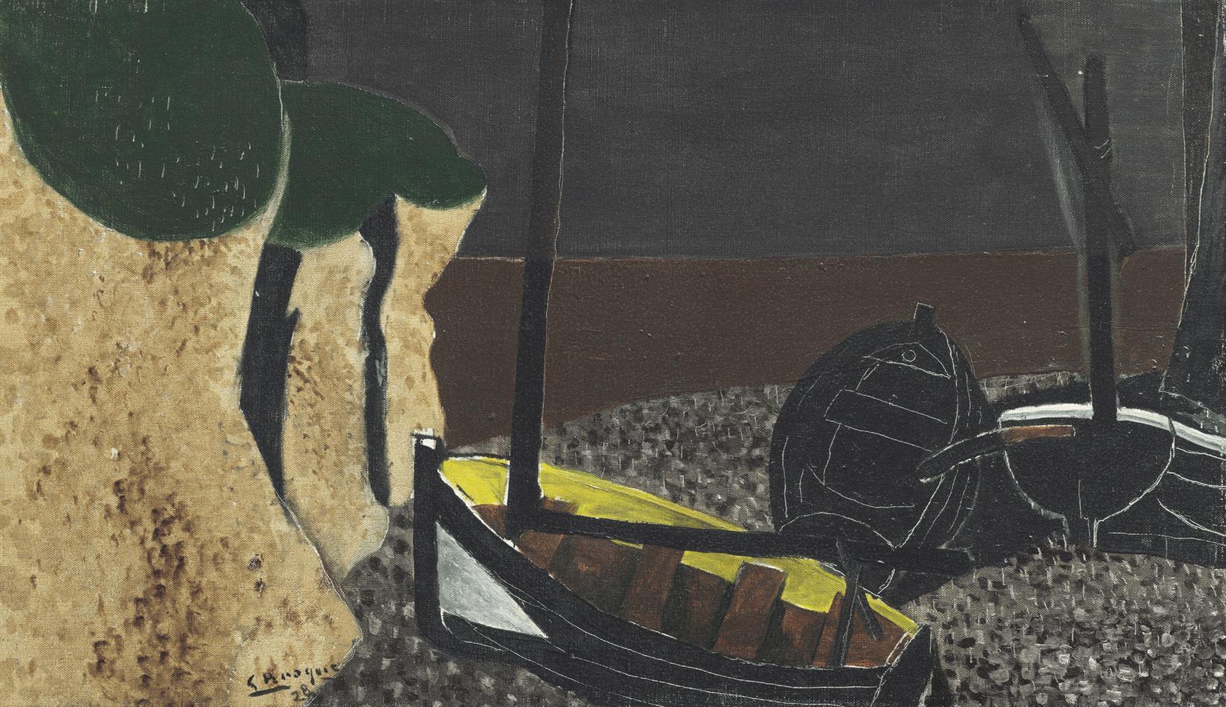 Georges Braque-Barques Au Sec-1928