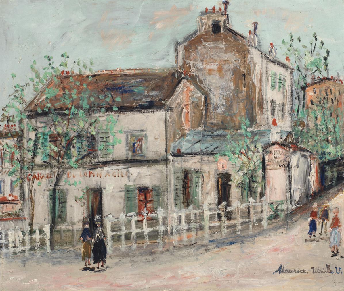 Maurice Utrillo-Cabaret Du Lapin Agile-