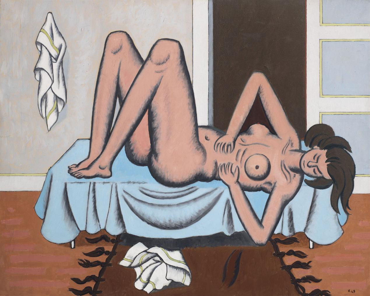 Jean Helion-Nu Couche-1949