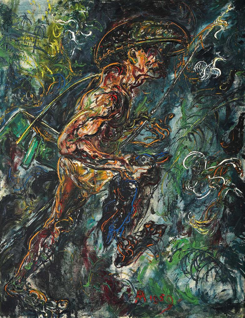 Affandi-Duck Hunter-1959