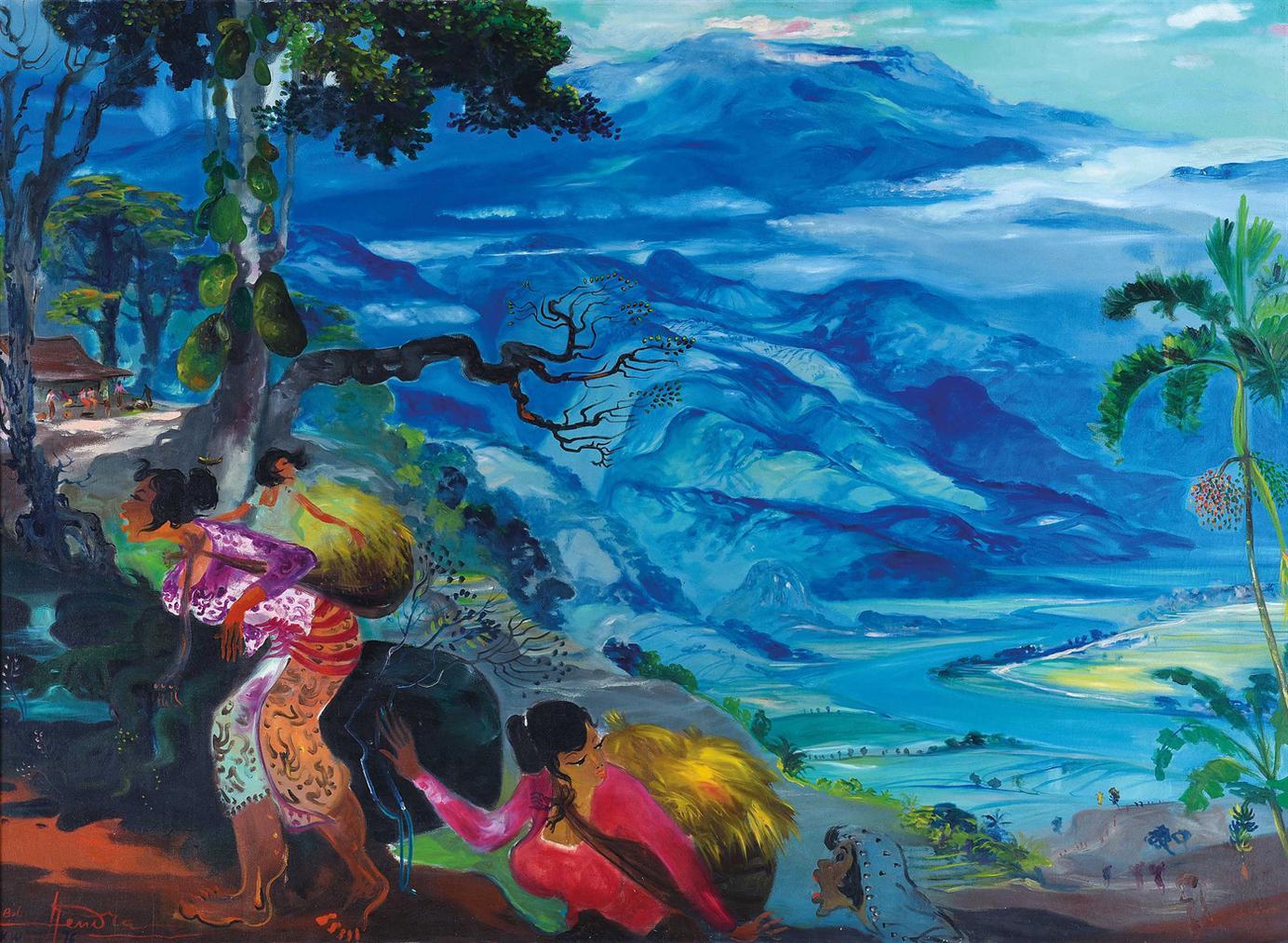 Hendra Gunawan-Panen Padi (Rice Harvest)-1976