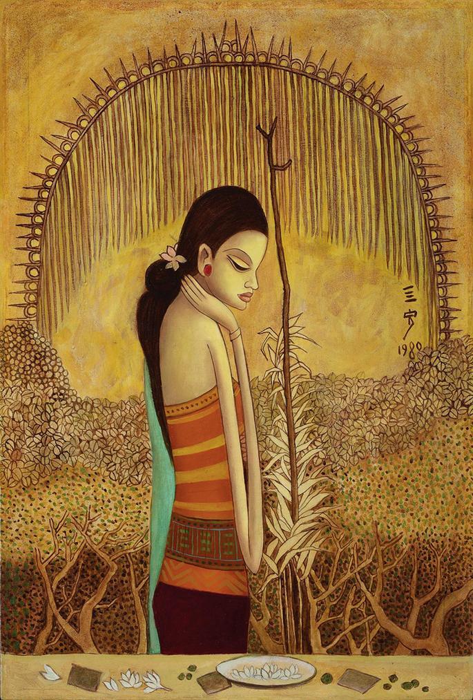 Cheong Soo Pieng-Bali Girl-1980