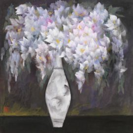 Lin Fengmian-Wisteria In A Vase-1957