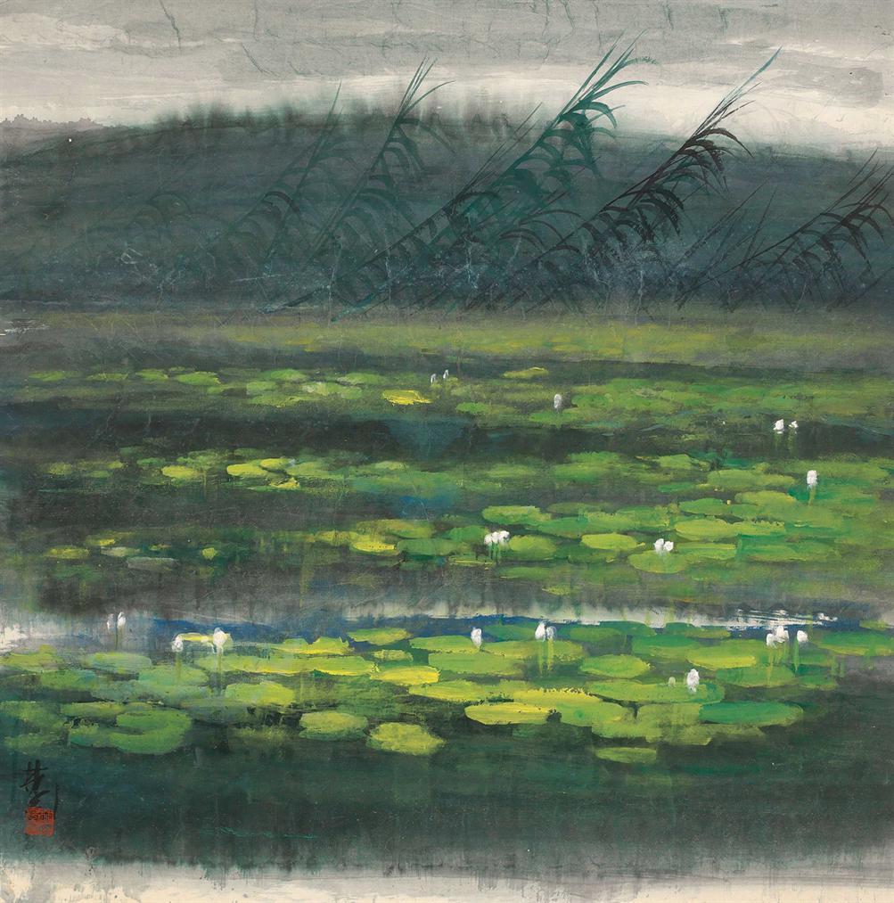 Lin Fengmian-Lotus Pond-1960