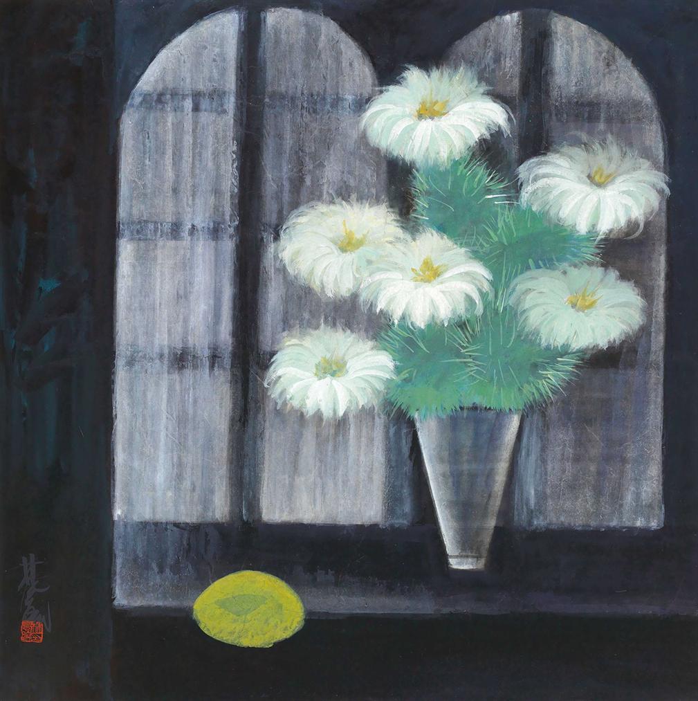 Lin Fengmian-Cactus Flower-1956