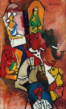 Maqbool Fida Husain-Untitled (Raj Series)-1980