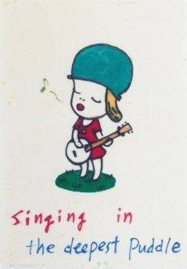 Yoshitomo Nara-Singing In The Deepest Puddle-1995