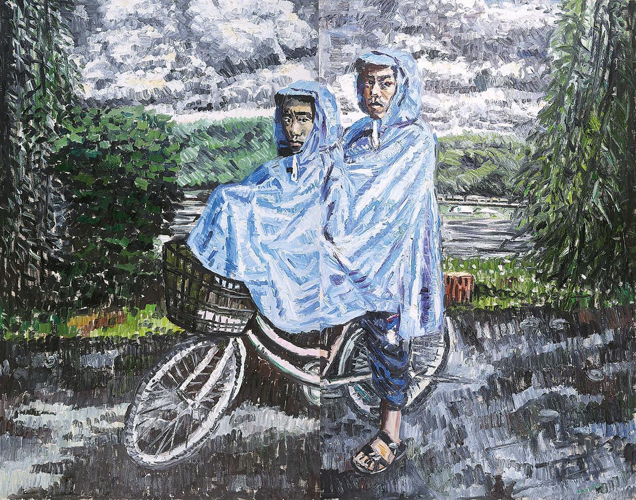 Qin Qi-Blue Raincoats-2008