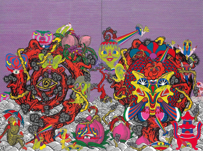 Keiichi Tanaami-Spiral Pines-2009