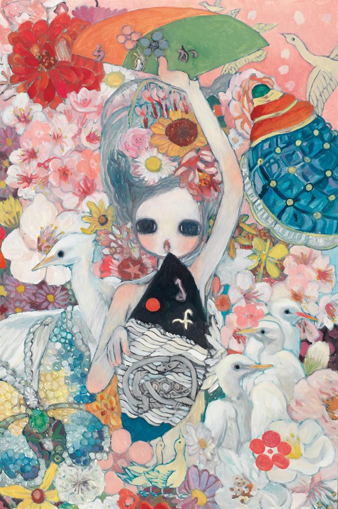 Aya Takano-Rising, Floating Energy And Flowers-2013