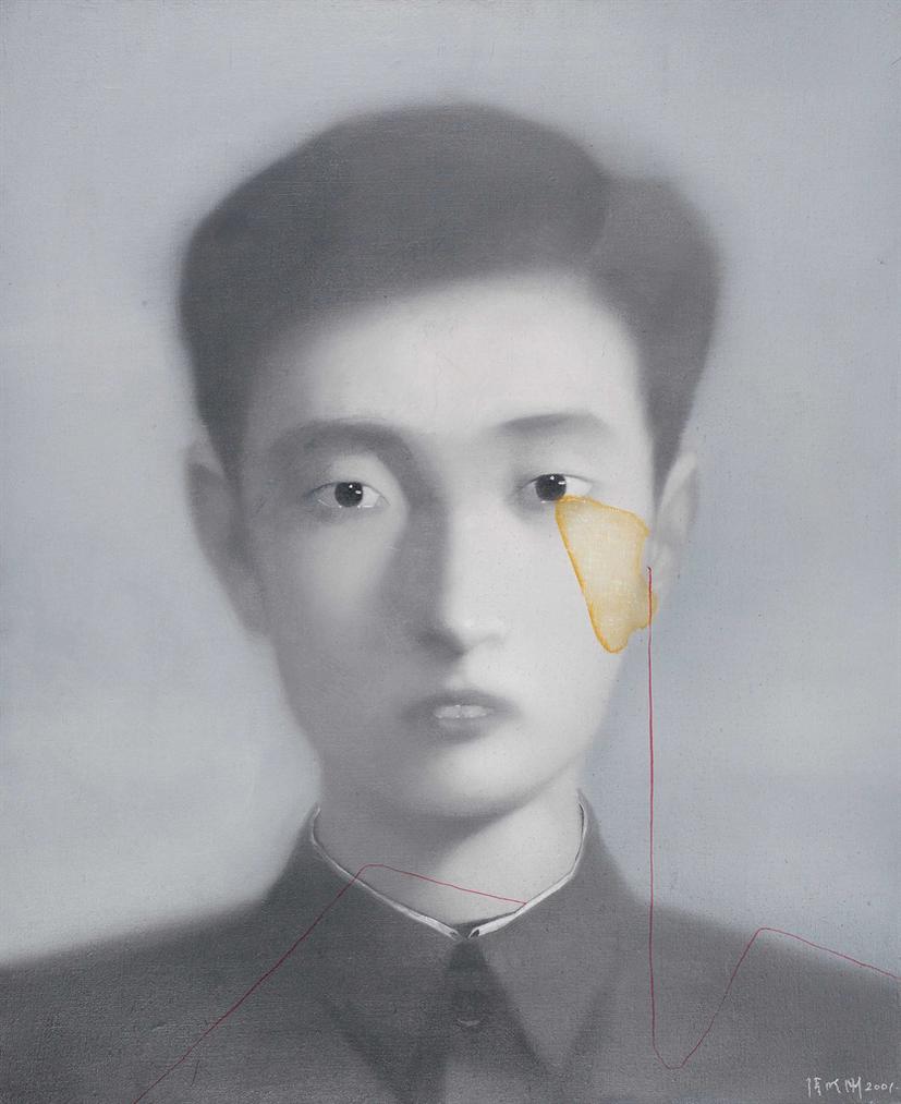 Zhang Xiaogang - Bloodline Series No. 8-2001