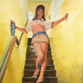 Liu Xiaodong-A Transsexual Getting Down Stairs-2001
