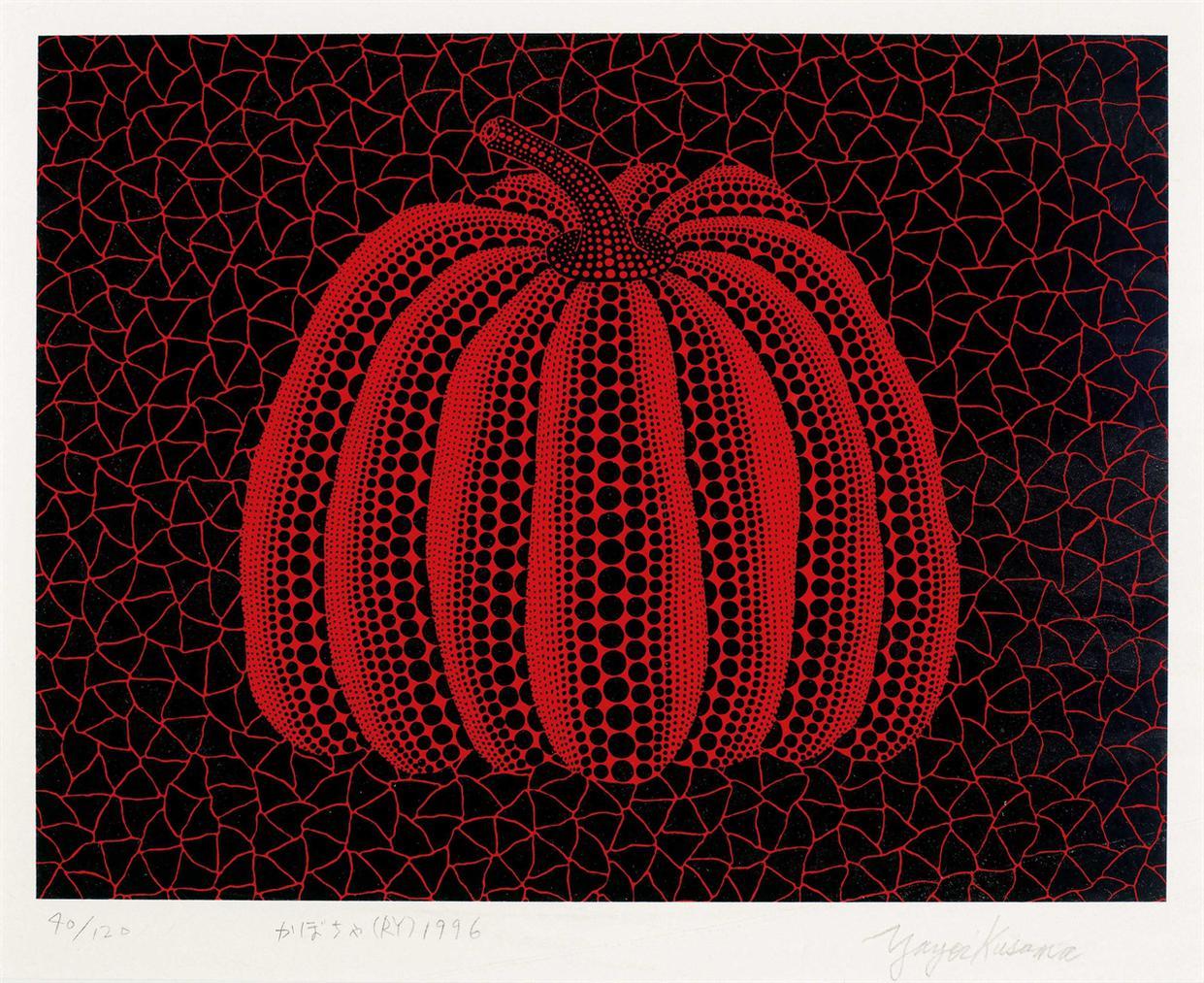 Yayoi Kusama-Pumpkin (Ry)-1996