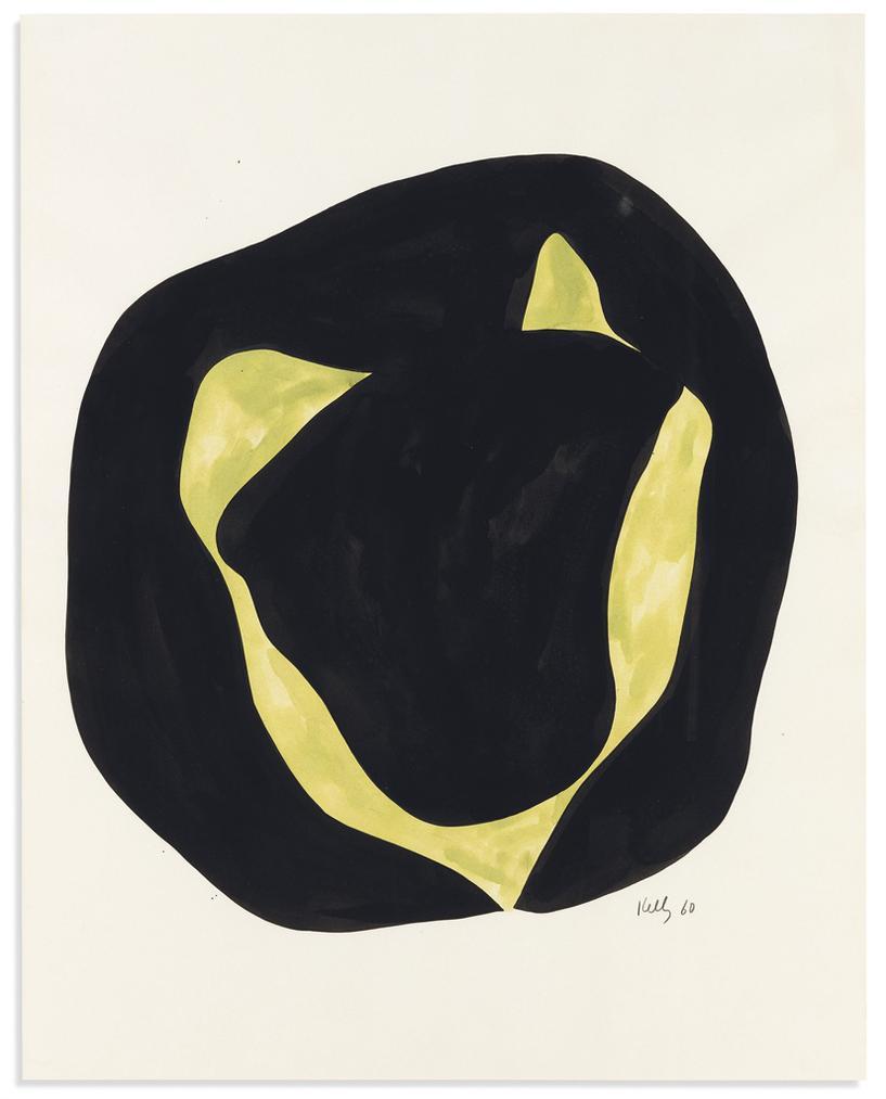 Ellsworth Kelly-Untitled (Black Variant)-1960
