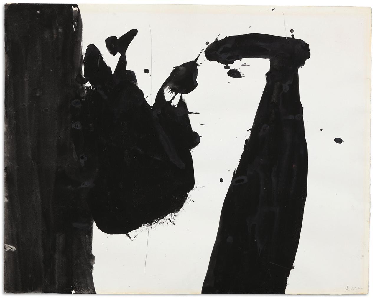 Robert Motherwell-In Black + White-1960