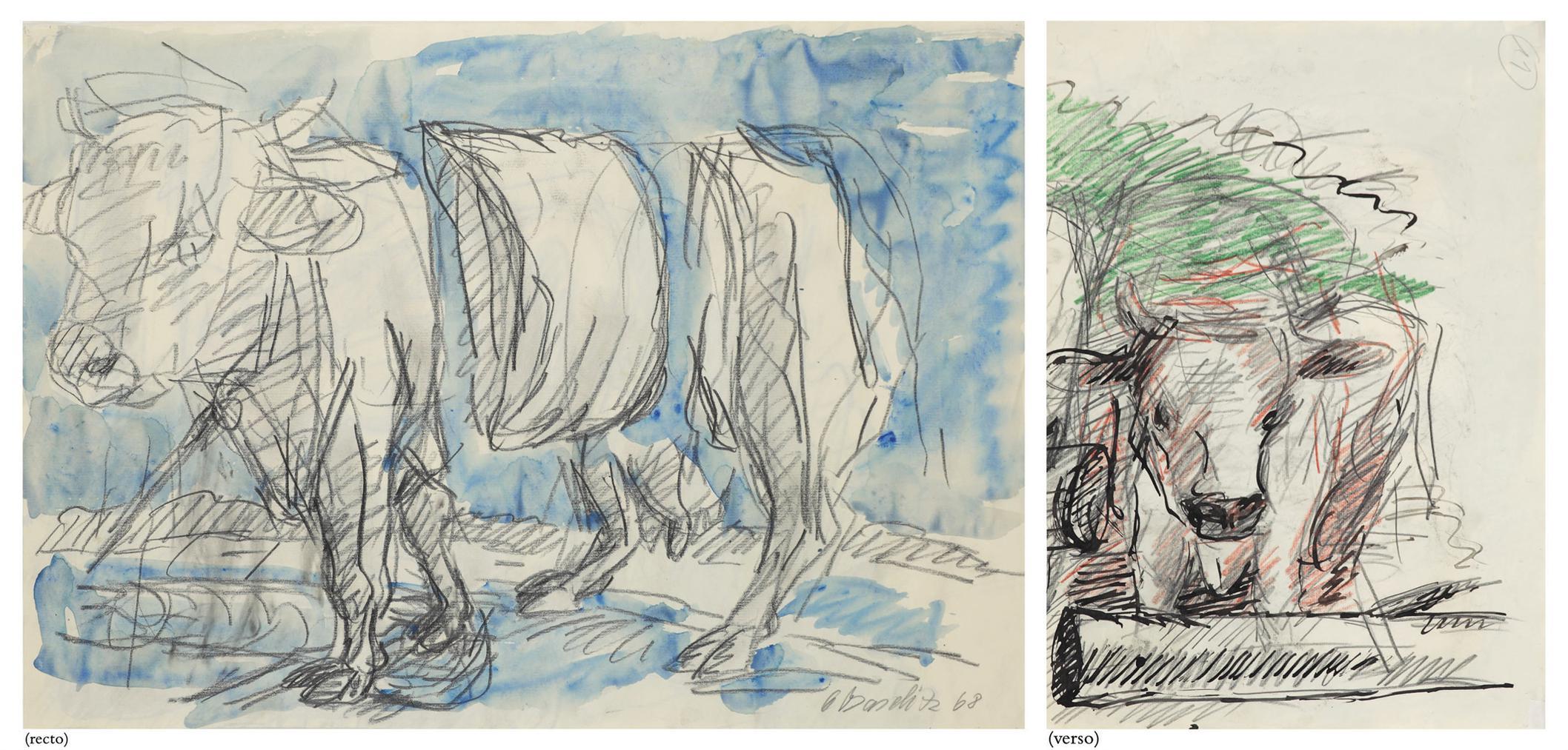 Georg Baselitz-Untitled (Cow)-1968