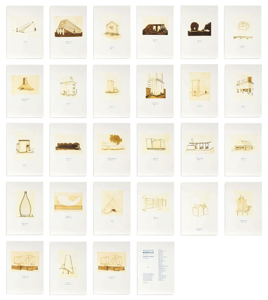 Thomas Schutte-Architektur Modelle 1980-2006 (Architecture Models 1980-2006)-1980
