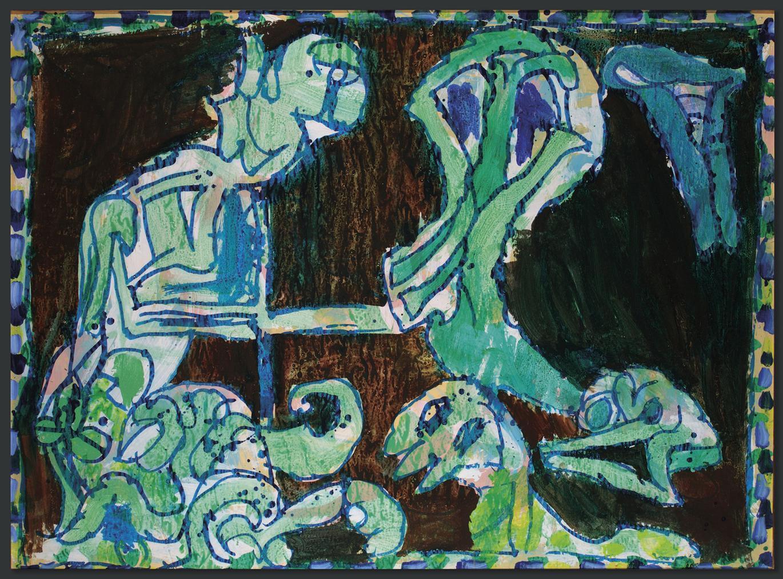 Pierre Alechinsky-Plus (More)-1974