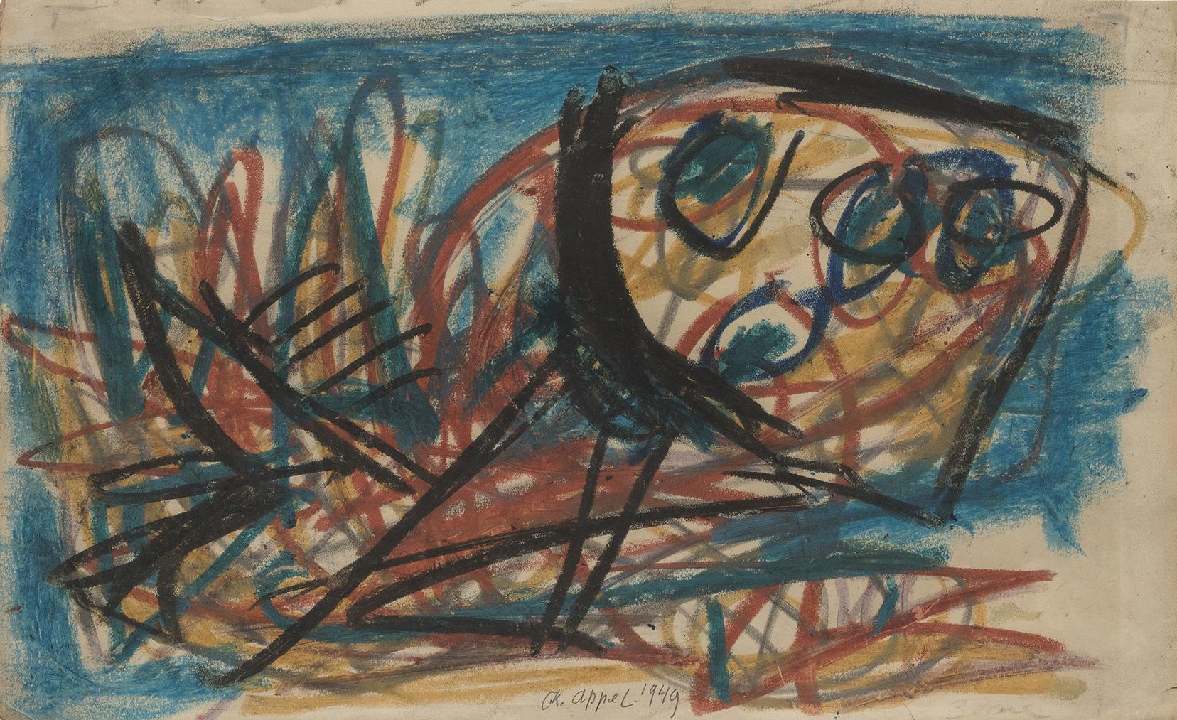 Karel Appel-Untitled-1949