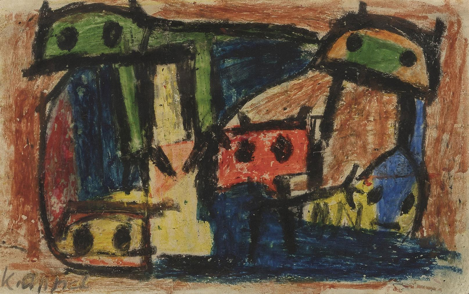 Karel Appel-Untitled (Questioning Children)-1949