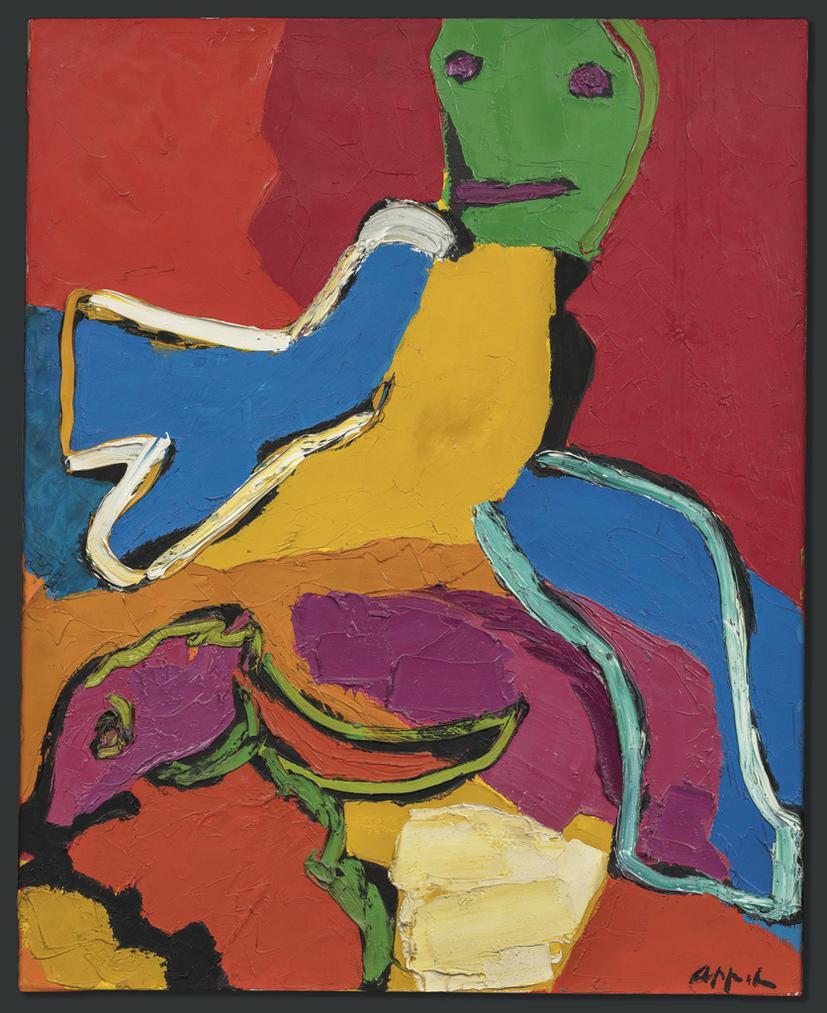 Karel Appel-Running Boy With Bird-1971