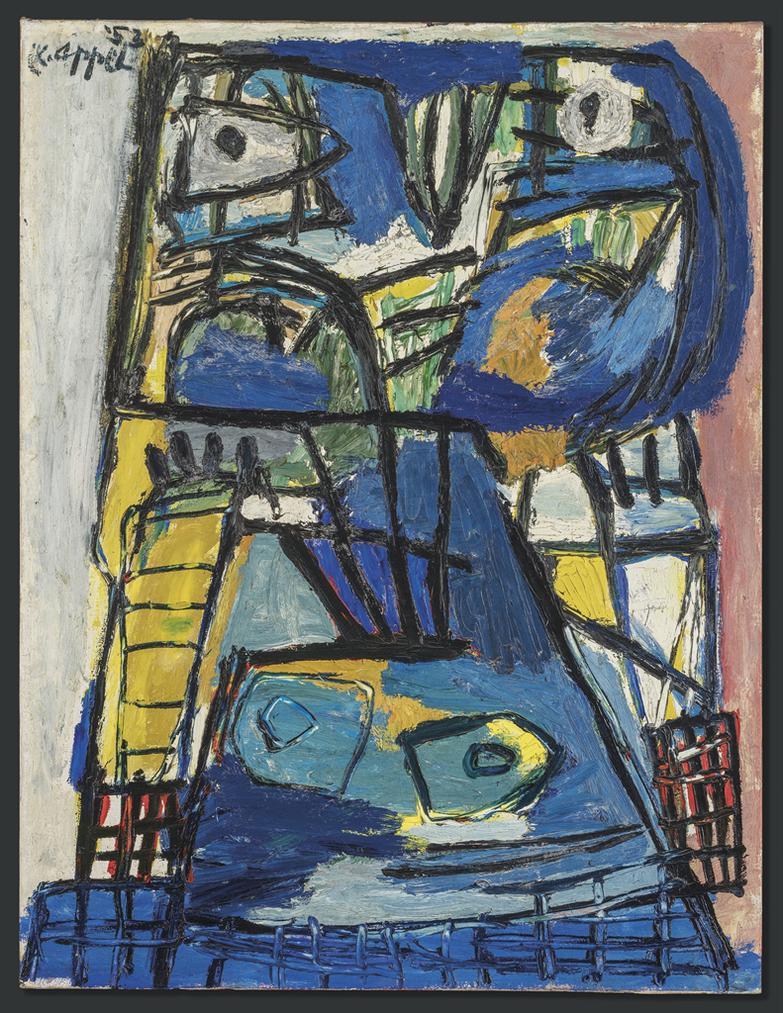 Karel Appel-Tete Bleue (Blue Head)-1953