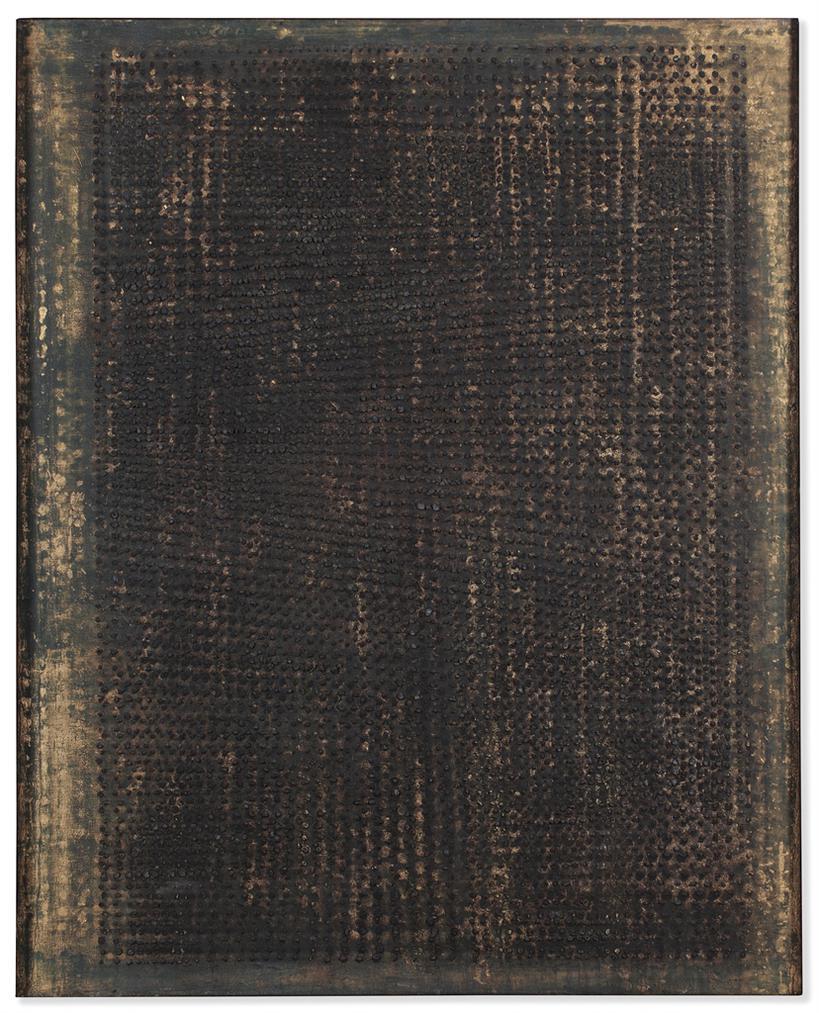 Otto Piene-Bronze Und Gold (Bronze And Gold)-1959