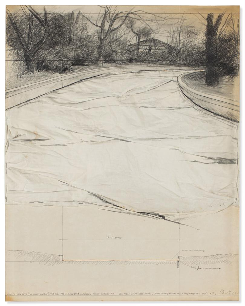 Christo and Jeanne-Claude-Wrapped Walk Ways (Two Parks Project) (Ueno Park, Tokyo Japan)-1970