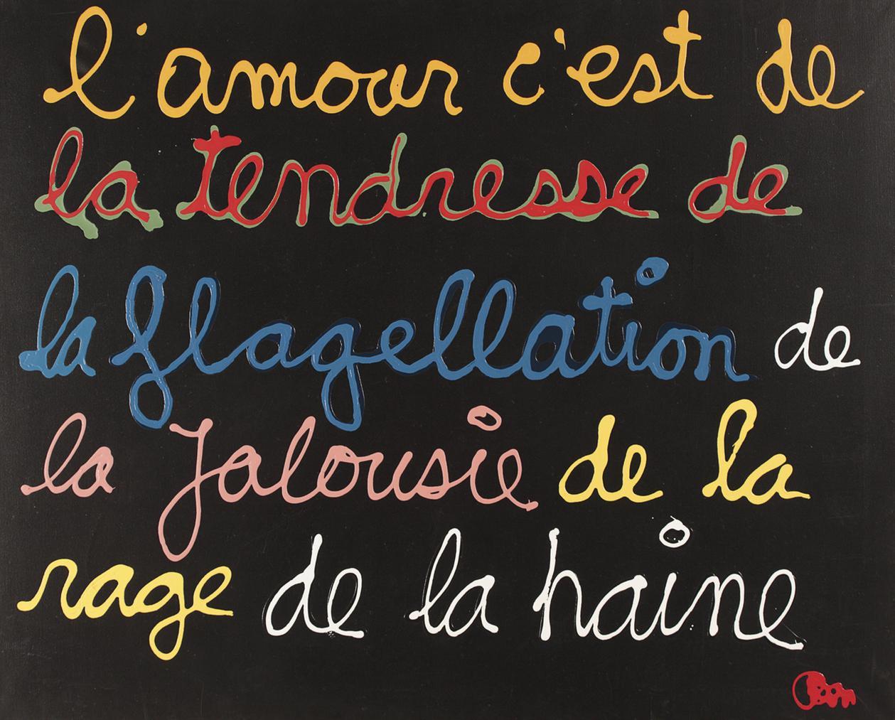 Ben Vautier-Lamour Cest De La Tendresse (Love Is Tenderness)-2002