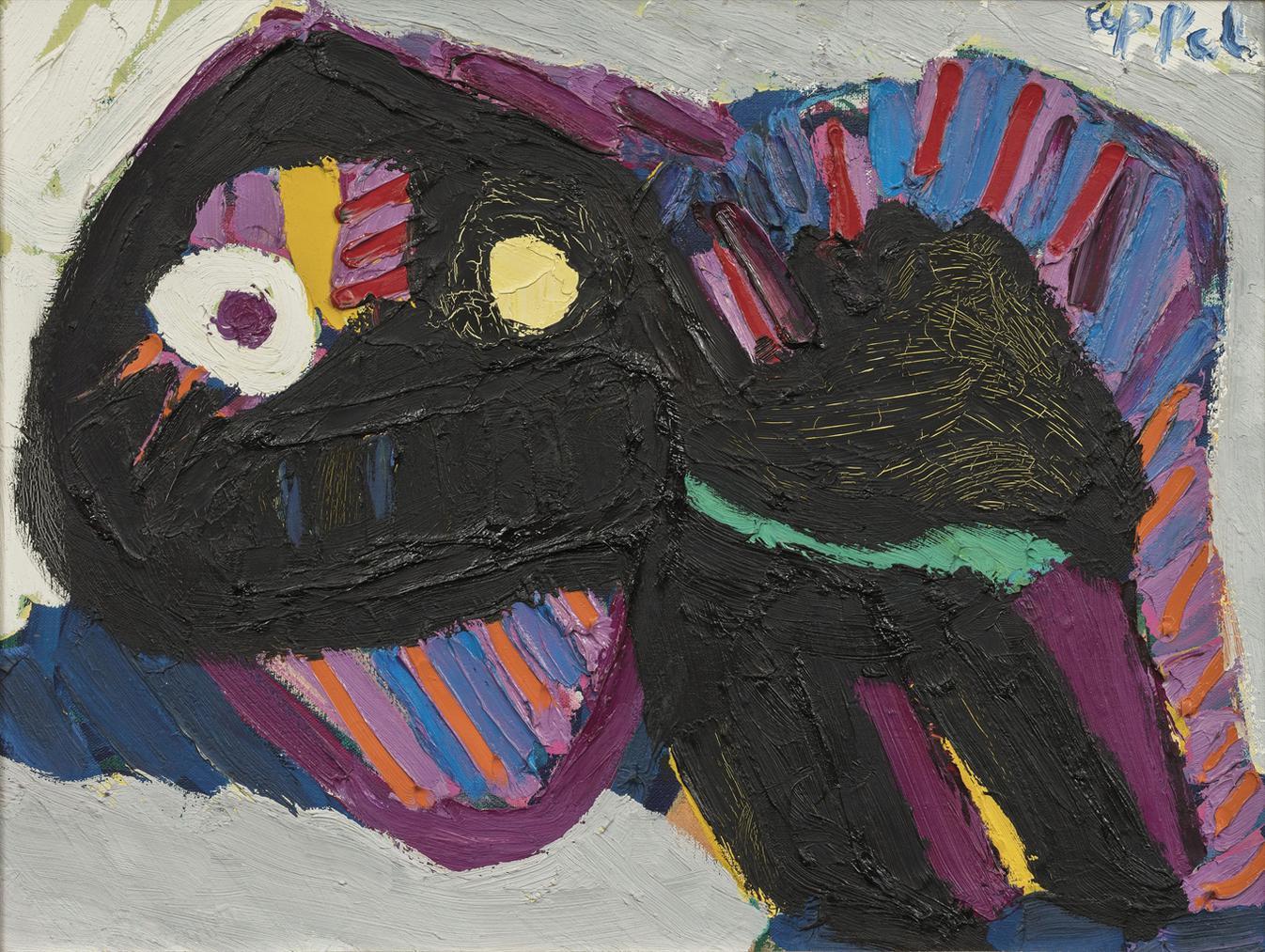 Karel Appel-Black Cat-1979