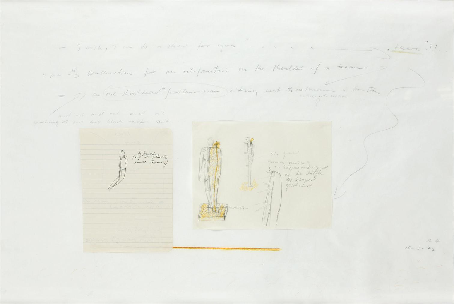 Rebecca Horn-Untitled (Study For Oil Fountain)-1976