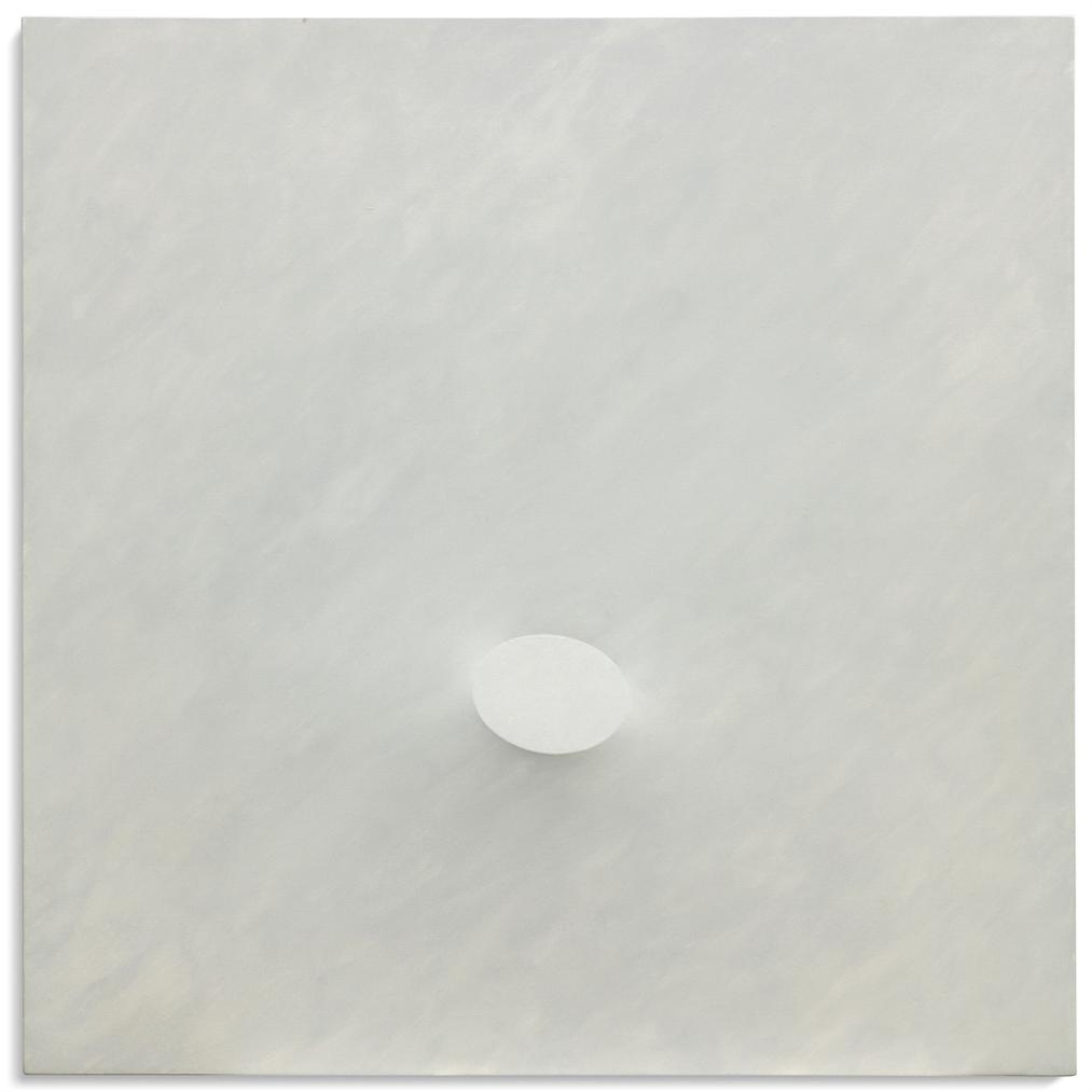 Turi Simeti-Un Ovale Bianco (A White Oval)-1975