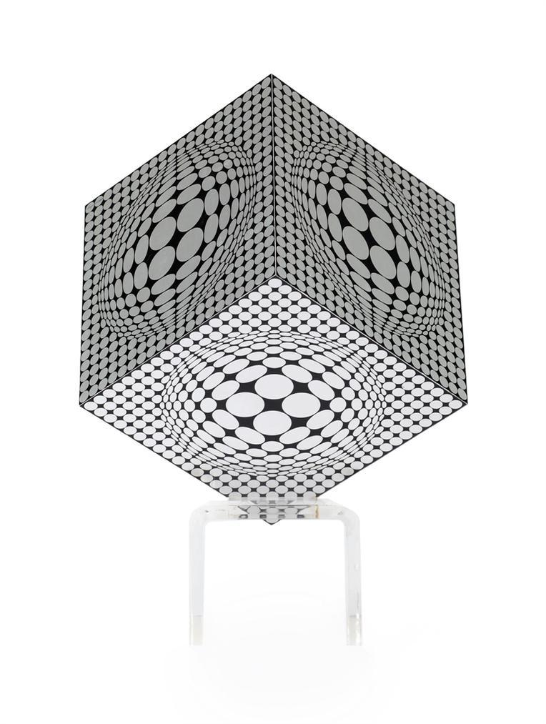 Victor Vasarely-Vega 4 Cercles Negatif-1970