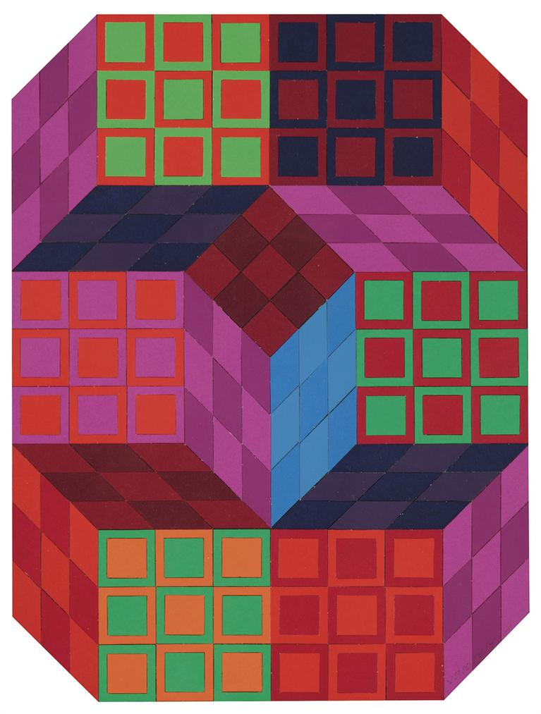 Victor Vasarely-Xiko-B-1972